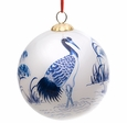 Blue and White Crane Ornament