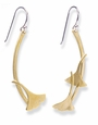Brass Gingko Earrings