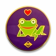 Kaeru Loves JANM Pin<br>(Purple with Heart)