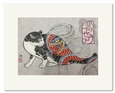 Monmon Cat Print by Horitomo: <i><b>Snake Cat</b></i>