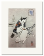 Monmon Cat Print by Horitomo: <i><b>Tebori Cat</b></i>