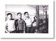Notecard: Toyo Miyatake Images of Manzanar - Boys at Fence