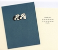 Set of 8 Thank You Cards<br>Bowing Couple