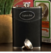 8 oz. Personalized Leather Flask