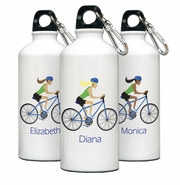 Personalized Water Bottle - Go-Girl Biking