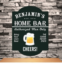 Classic Tavern Personalized Bar Signs