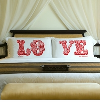 Couples Personalized Pillow Case Sets