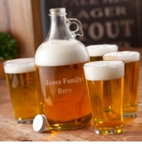 Engraved Growlers Set