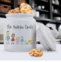 Personalized Cookie Jar - Family
