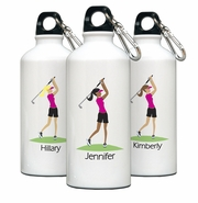 Personalized Water Bottle - Go-Girl Golf