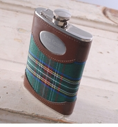 Personalized 8oz Flask � Green Plaid