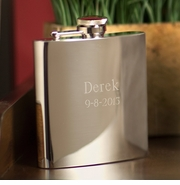 High Polish Stainless Steel 7 oz. Personalized Flask