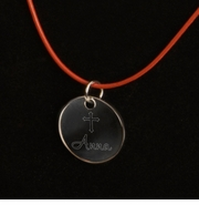 Inspirational Pendant Necklaces with Engraved Cross