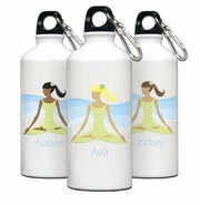 Personalized Water Bottle - Go-Girl Meditate