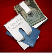 Personalized Stainless Steel Money Clip & Credit Card Holder