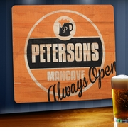 Personalized Wood Bar Sign - Always Open