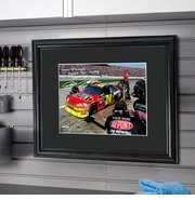 Personalized and Autographed NASCAR Picture