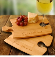 Personalized Cutting Board Set - Bamboo Puzzle