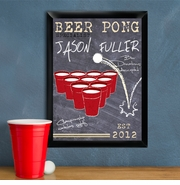 Personalized Beer Pong Bar Signs