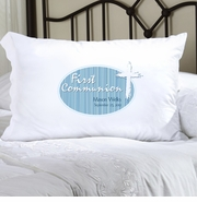 Personalized Pillow Case - Blue Light of God First Communion