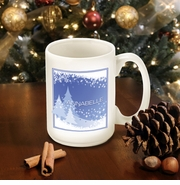 Personalized Blue Snowscape Coffee Mug