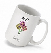Personalized Bouquet Coffee Mug
