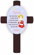 Personalized Boy's Bedtime Prayer Cross - Blond