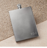 Personalized Brushed Flat Flask