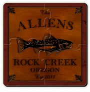 Personalized Cabin Series Coaster Puzzle Set