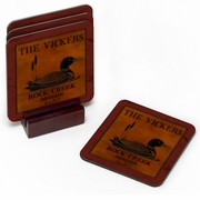 Personalized Coaster Set - Cabin Series