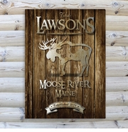 Personalized Canvas Sign -  Welcome to the Lake