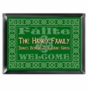 Personalized Family Sign - Celtic Green