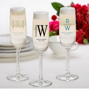Personalized Champagne Flute Wedding Favors