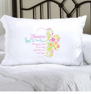 Personalized Pillow Case - Cheerful Blossoms