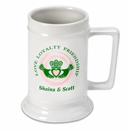 Personalized Stein - Claddagh