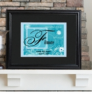 Personalized Couple�s Name Sign - Framed