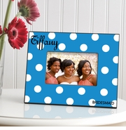 Personalized Picture Frame - Polka Dots