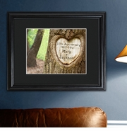 Personalized Tree Carving  Print - Anniversary