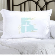 Personalized Pillow Case - Faith and Love