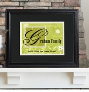 Personalized Family Last Name Sign - Framed