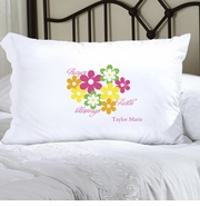 Personalized Pillow Case - Flowers and Faith