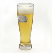 Personalized Grand Pilsner with Engraved Pewter Medallion