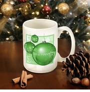 Personalized Green Ornament Coffee Mug