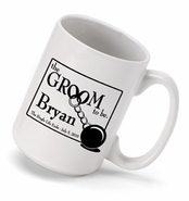 "Personalized Coffee Mug - ""Groom to Be"""