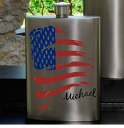 Personalized Flask - Gunmetal