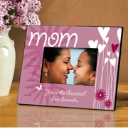 Personalized Picture Frame - Hearts and Flowers