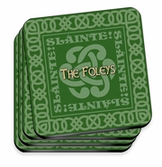 Personalized Coaster Set - Irish Family