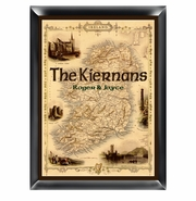 Personalized Family Sign - Map of Ireland