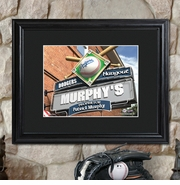 Personalized MLB Bar and Pub Sign with Wood Frame
