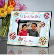 Personalized Picture Frame - Mom in Flowers